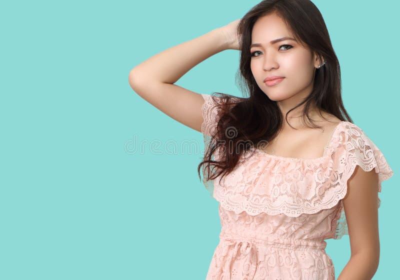 Asian woman fashion stock image