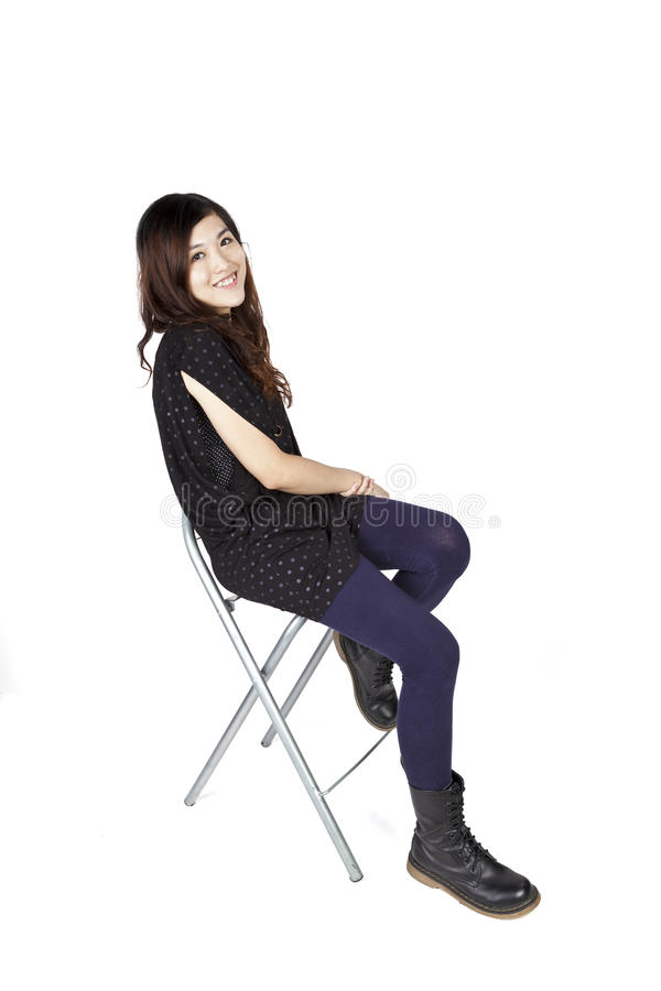 Asian woman with happy face royalty free stock photography