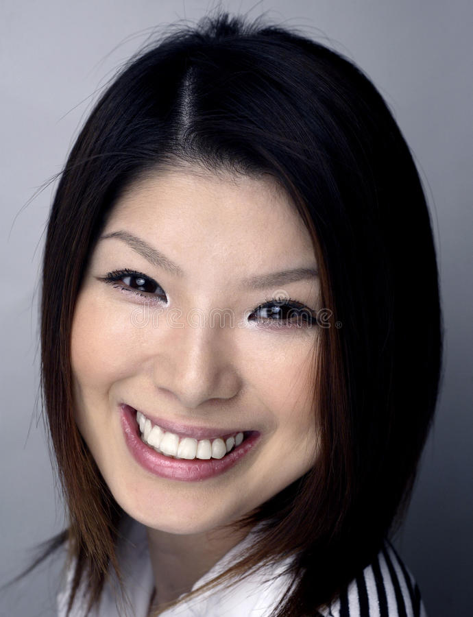 Download Asian woman headshot stock image. Image of female, indoors - 13577545