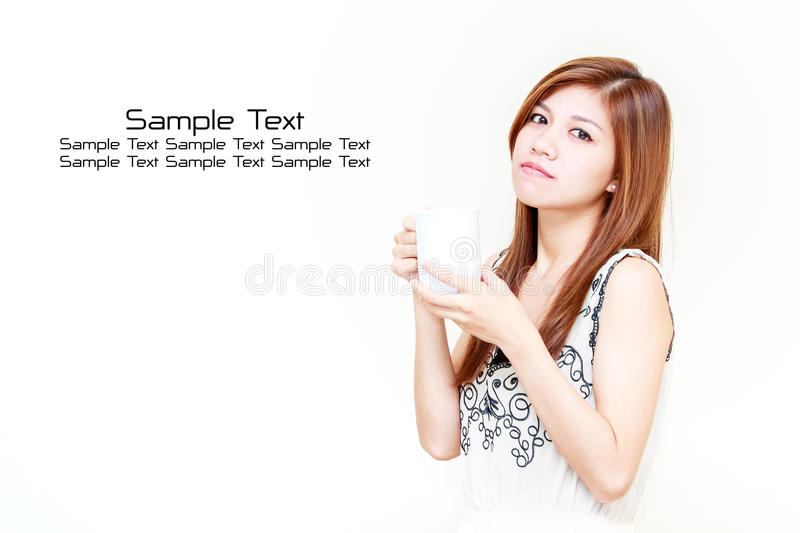 Download Asian Woman Holding A Cup Concept Stock Image - Image: 26495117