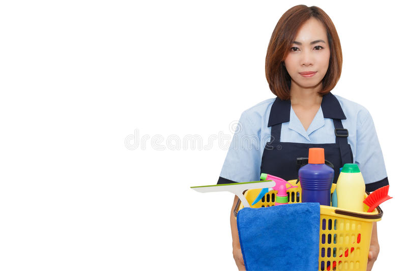 Asian woman maid. stock images