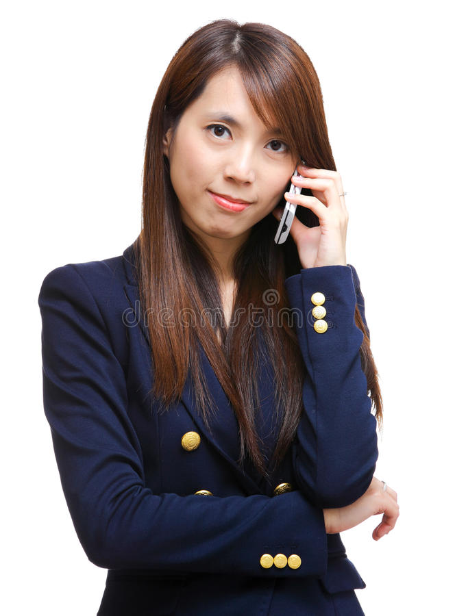 Download Asian woman on phone call stock image. Image of closeup - 24399575
