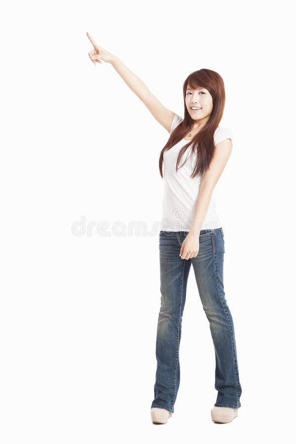 Download Asian Woman pointing stock image. Image of hand, beautiful - 26151127
