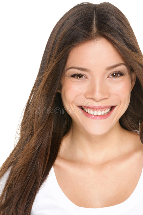 Asian woman portrait close up - Asian girl in 20s royalty free stock images