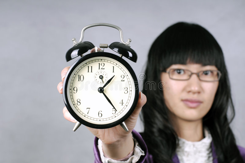 Download Asian Woman Remind Don't Be Late Or Slow Stock Image - Image of late, noise: 7829241
