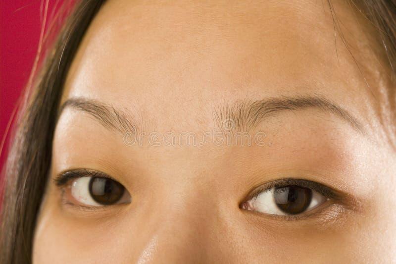 Asian woman's eyes royalty free stock image