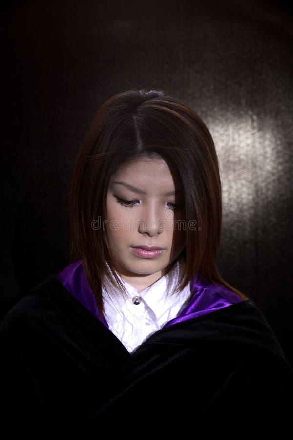 Asian Woman Sad Royalty Free Stock Photo