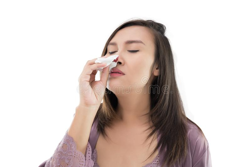 Nosebleed royalty free stock images