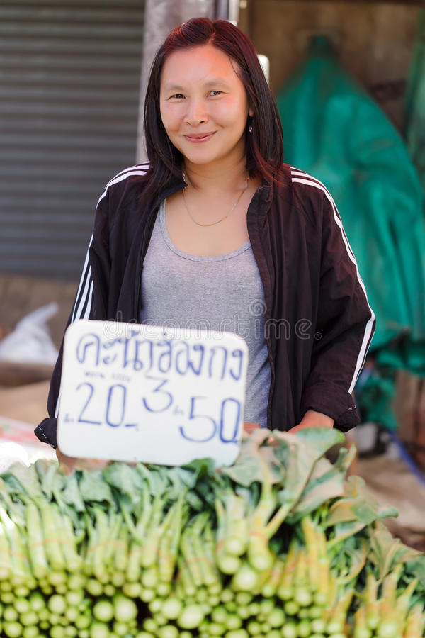 Asian woman seller