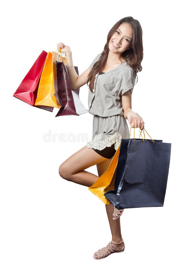 Download Asian Woman With Shopping Bags Stock Image - Image: 32311063