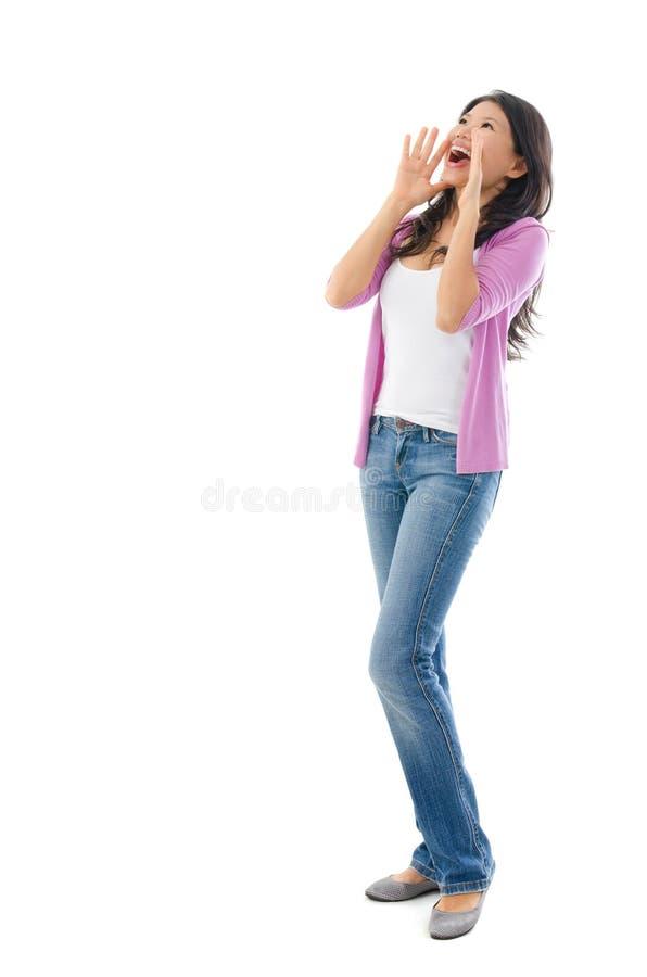 Download Asian woman shouting stock image. Image of loud, facial - 28650419
