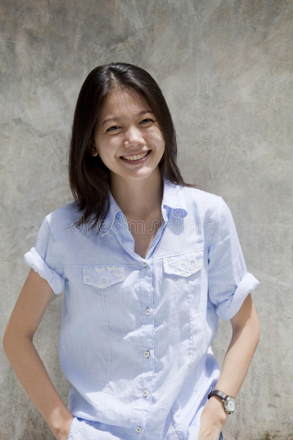Download Asian Woman  With Smiling Face Stock Photo - Image: 26130168