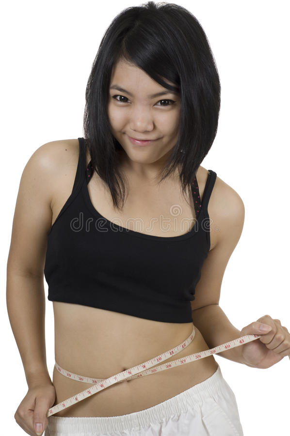 Asian woman staying fit