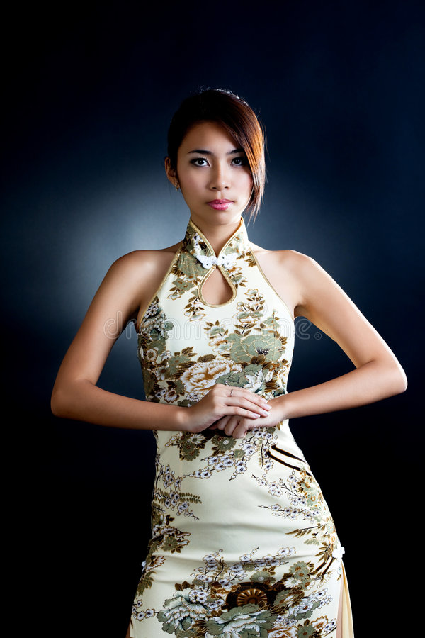 Download Asian Woman In Traditional Oriental  Dress Stock Photo - Image: 7655698