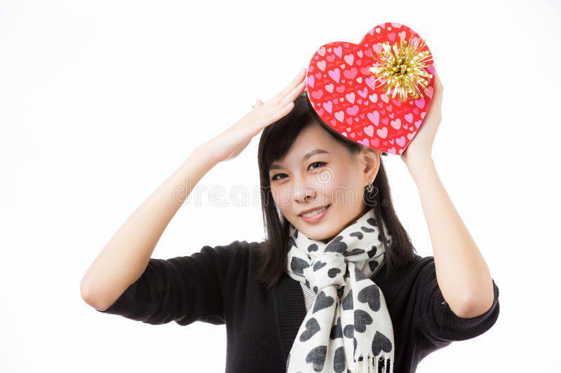 Asian woman valentines day