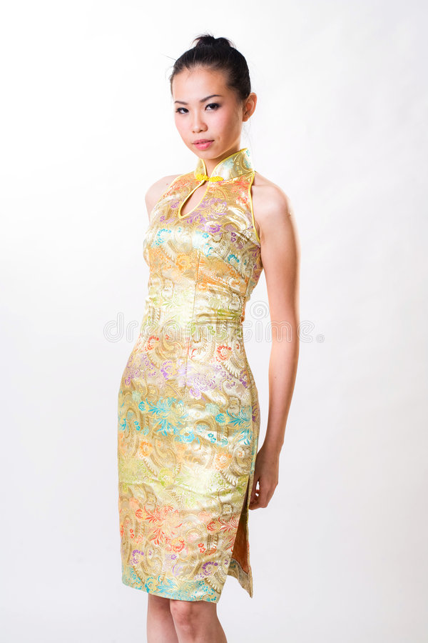 Free Asian Woman Wears Chinese Traditional Dress Stock Photo - 7577540