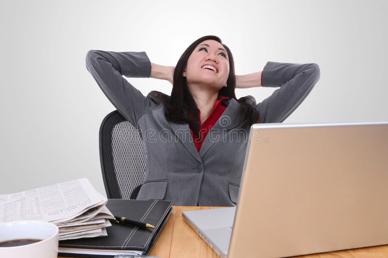 Download Asian Woman At Work Royalty Free Stock Photos - Image: 8181508