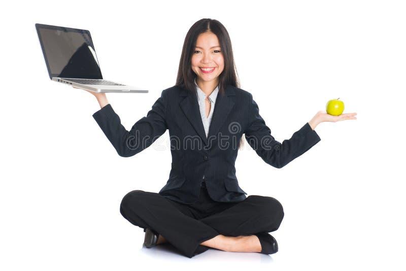 Asian woman work life royalty free stock photos