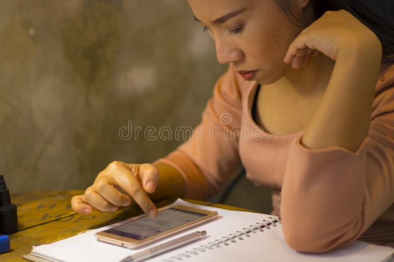 Asian woman worker suffering from hurt,fatigue, pain at neck, muscle, stressed during working with laptop for a long time, Office. Asian woman worker suffering stock photos