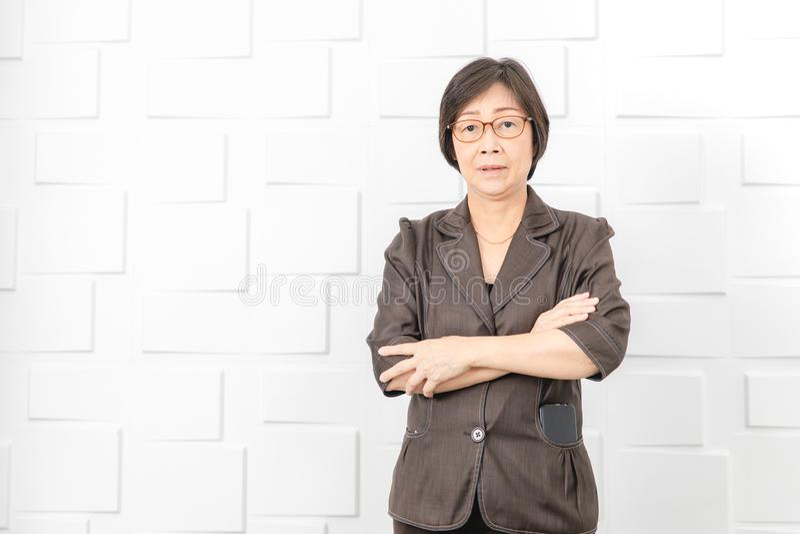Asian woman working royalty free stock photos