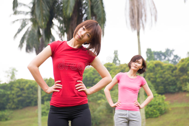 Download Asian Woman Workout Outdoor Stock Photo - Image: 36079894