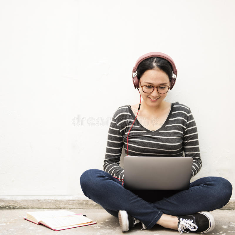 Asian Women Connection Technology Lifestyle Concept.  stock photography