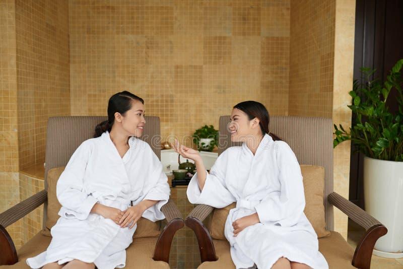Asian Women Having Wellness Weekend royalty free stock photos