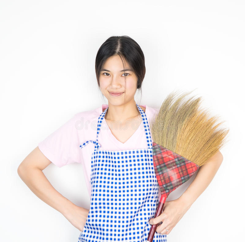 Download Asian Women Is Ready To Do House Work Stock Image   Image Of  Female,
