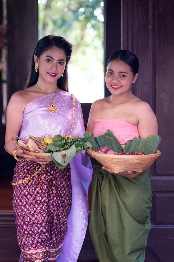 Asian Beautiful Woman Wearing Thai North Traditional
