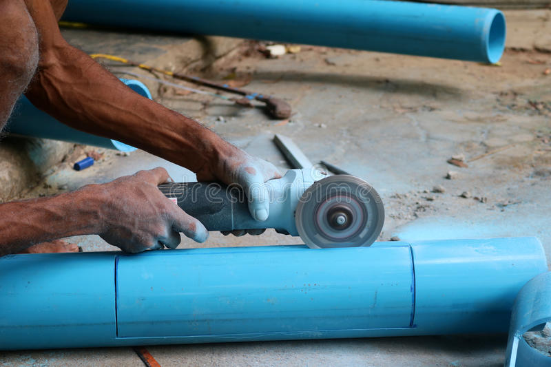 Download Asian Workers Use Circular Saw Cutting The PVC Pipe Stock Image - Image of industry & Asian Workers Use Circular Saw Cutting The PVC Pipe Stock Image ...