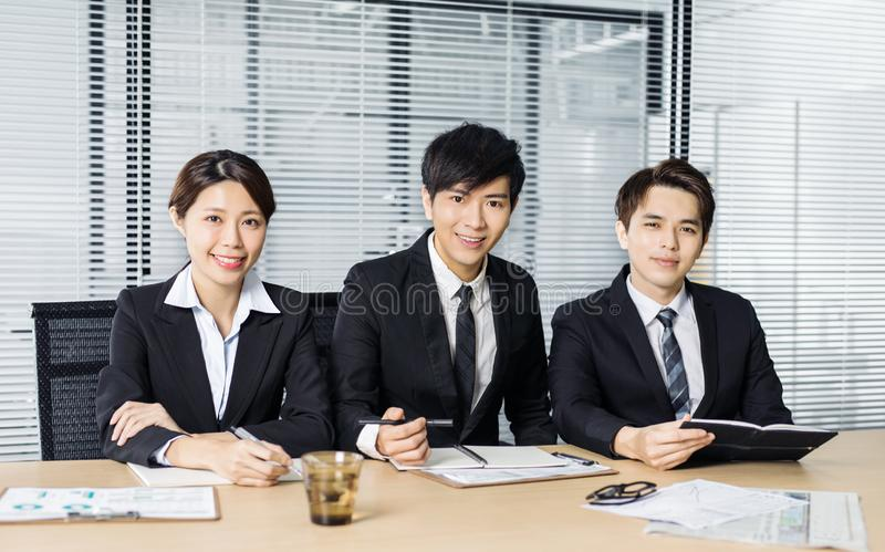 young business people in conference room stock photo