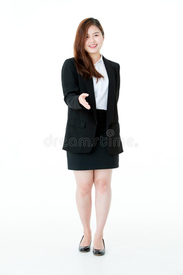 Asian young businesswoman portrait smart in suit smiling with an stock photos