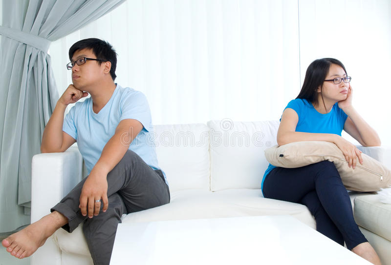 Asian young couple royalty free stock photography