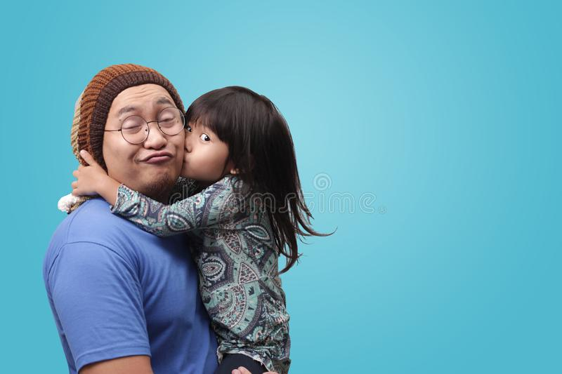 Father and his Daughter Having Fun royalty free stock photos
