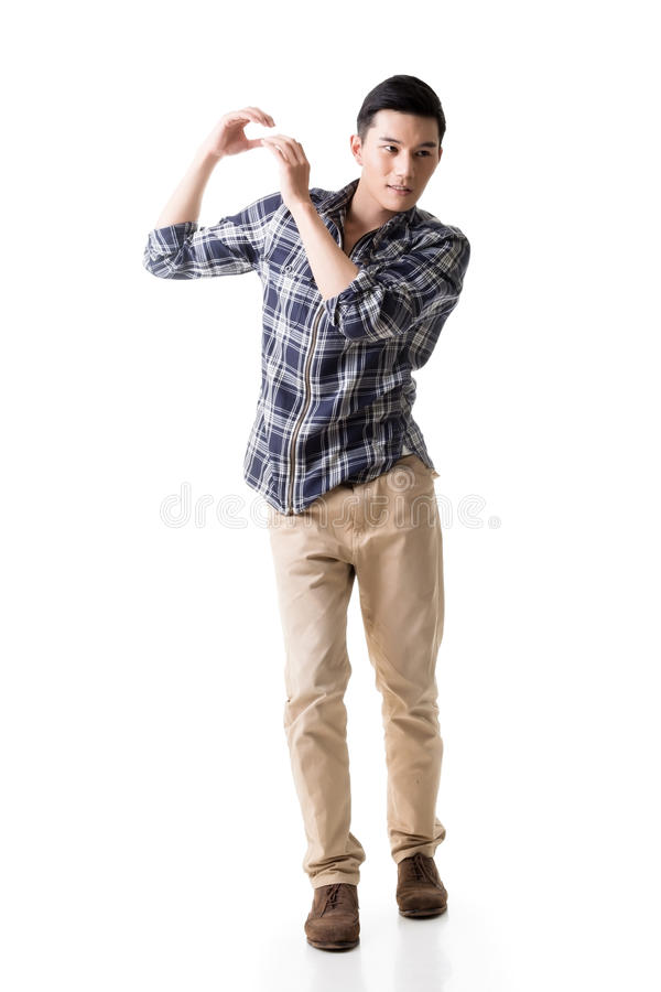 Download Asian Young Guy Carry Or Take Something Stock Photo - Image: 39412804