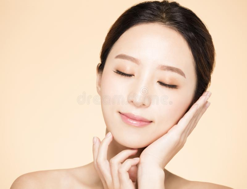 Young woman with clean fresh skin royalty free stock photography