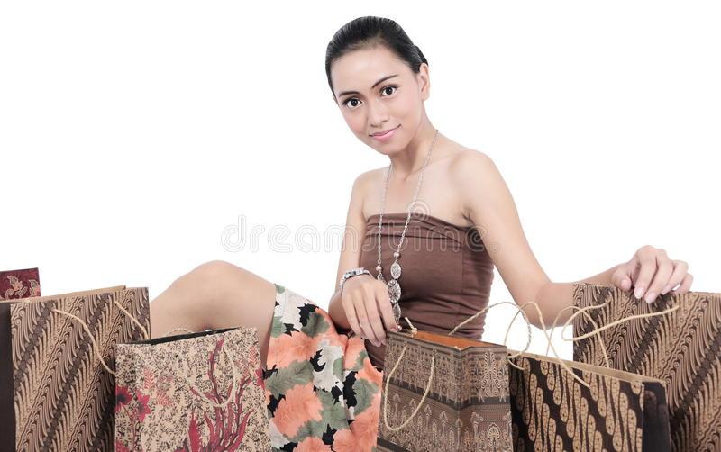Download Asian Young Women With Shopping Bags Stock Photo - Image: 31512520