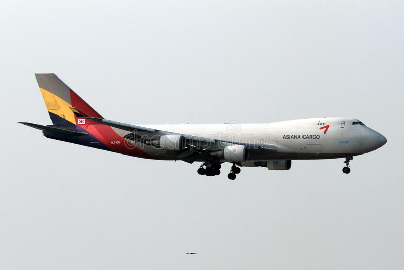 Asiana货物飞机 免版税库存图片