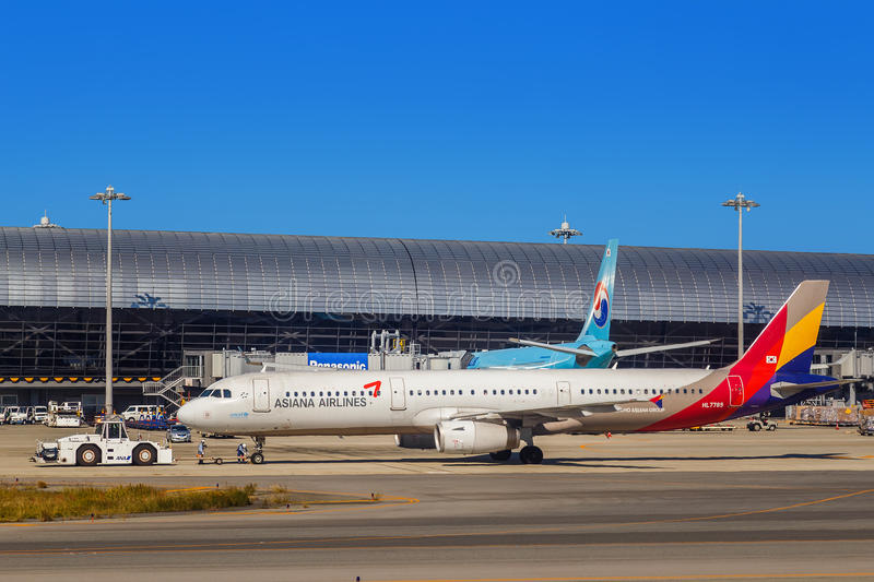 Asiana Airlines fotos de stock royalty free