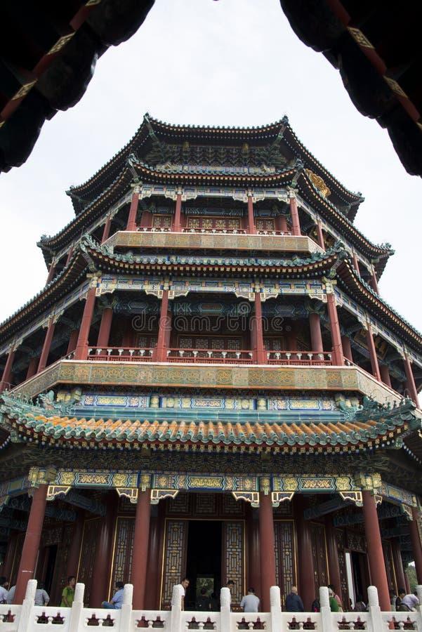 Asiat China, Peking, der Sommer-Palast, Turm des buddhistischen Weihrauchs lizenzfreie stockfotos