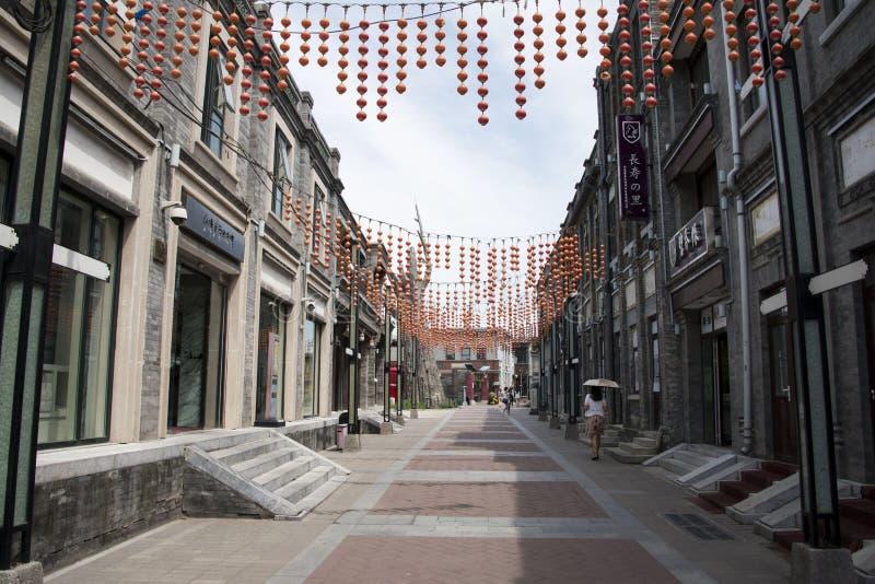 Asiat China, Peking, Qianmen-Einkaufsstraße, Taiwan-Geschäftsgebiet lizenzfreies stockbild