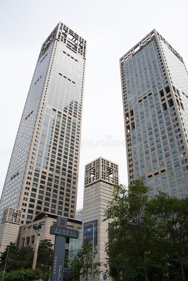Berühmte Architektur asiat china peking zentrales geschäftsgebiet cbd die moderne