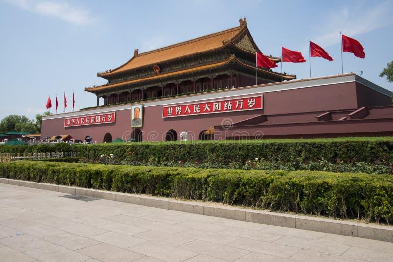 Asiat Kina, Peking, Tiananmen royaltyfri foto