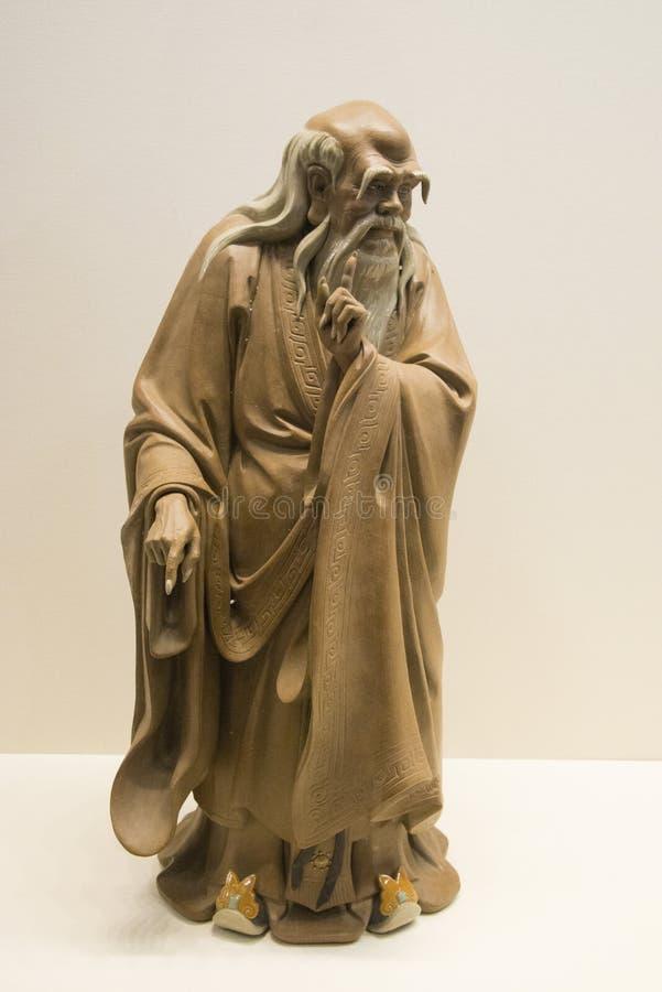 Asiat Kina, statyer, Kina forntida filosof, historiker, laozi, arkivbilder