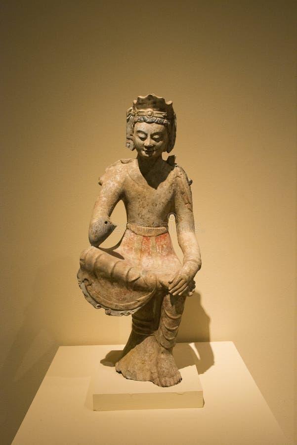Asiat Kina, sten, staty av Buddha arkivbilder