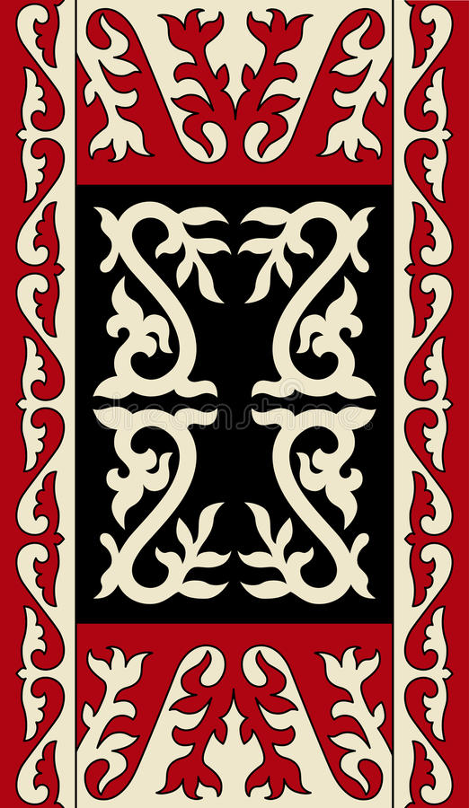 Asiat verziert Sammlung Historisch Ornamental des Nomadenvolks vektor abbildung