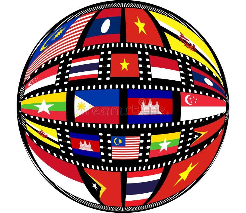 asiatet colors östliga söder royaltyfri illustrationer