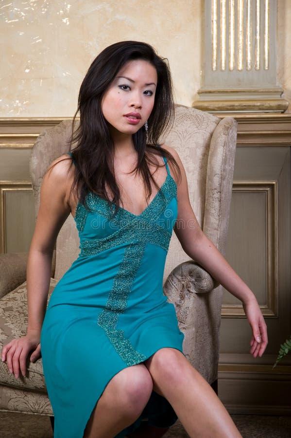 Asiatet Modellerar Arkivfoton