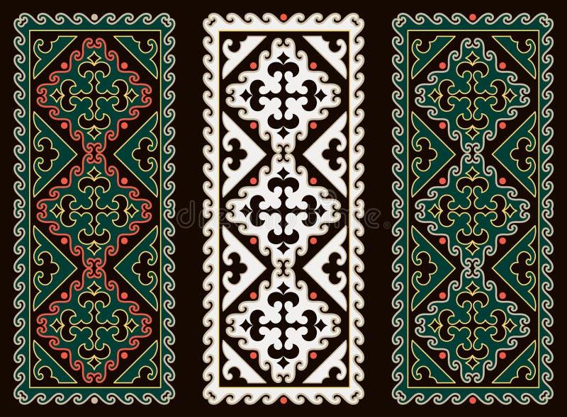 Asiatet smyckar samlingen Historically dekorativt av nomad- folk royaltyfri illustrationer