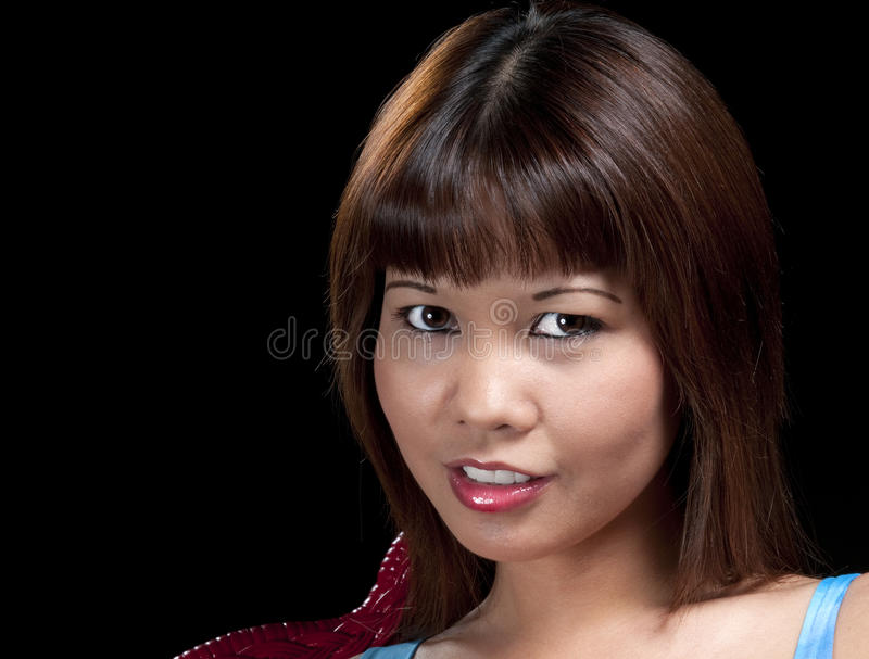 asiatic flickastående royaltyfria foton